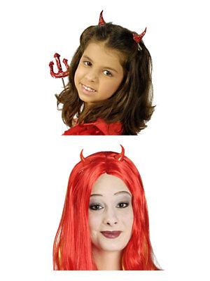 Paar Hörner Teufel Halloween Rot Kostüm Accessoires - Halloween Paar