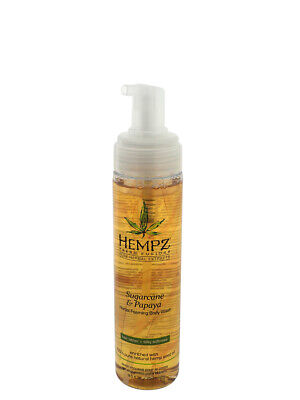 Hempz Herbal Foaming Body Wash, Sugarcane & Papaya, 8.5 Ounc
