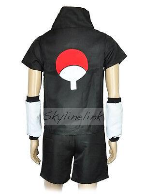 Naruto Shippuden Sasuke Uchiha Anime Cosplay Kostüm Costume Karneval Set Schwarz