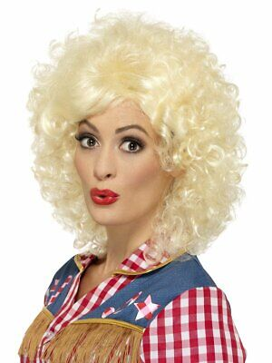 Smiffys Rodeo Doll Curly Blonde Cowgirl Dolly Parton Wig Halloween Costume 45167 - Dolly Parton Halloween Wigs