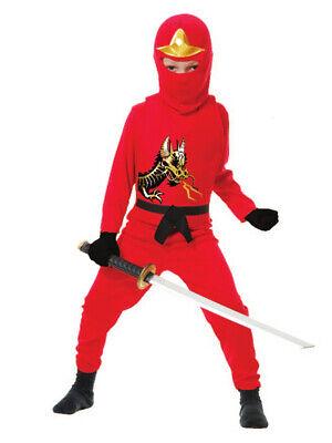 Childs Boys Red Ninja Avengers Series 2 Costume Toddler 2-4T