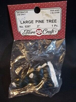 "Miniature Dollhouse ACCESSORY Christmas Village/TRAIN SET 2"" PINE TREE CRAFTS"