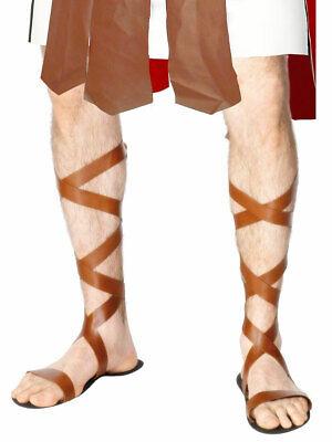Römischer Gladiator Ssandals Schnürer Warrior Schuhe Erwachsene Kostüm - Römische Gladiator Kostüm Zubehör