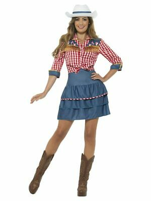 Smi - Damen Kostüm Western Rodeo Cowgirl Karneval Fasching