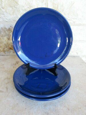 Mamma Ro Tabletop Classic Collection Set of 3 Blue Dinner Plates Italy