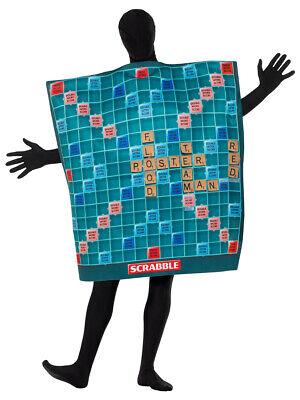 Erwachsene Herren Damen Scrabble Brettspiel - Brettspiele Kostüm
