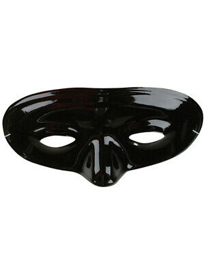 Set of 12 Adult or Child's Costume Accessory Black Plastic Lone Ranger Eye Mask - Adult Lone Ranger Costume
