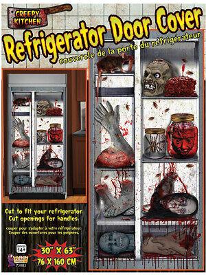Halloween Decorated Kitchens (Bloody Limbs Kitchen Refrigerator Door Cover Halloween)