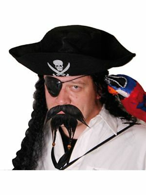 Falscher Bart Piratenbart schwarz Pirat Spaßbart unechter Bart