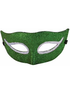 Green Glitter Style Venetian Mardi Gras Half Mask Costume Accessory (Venetian Mardi Gras Costumes)