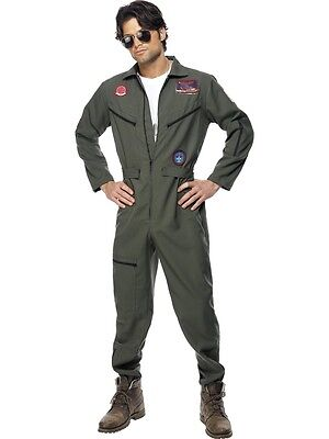 Top Gun Outfit (ADULT MENS TOP GUN LICENSED COMPLETE OUTFIT 2 SIZES FANCY DRESS)