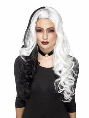 Smiffys Deluxe Evil Madame Cruella De Vil Perücke - Cruella Kostüm Perücke