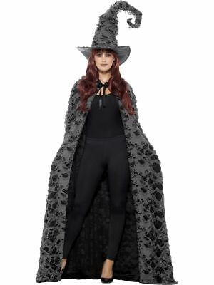 SMI - Unisex Kostüm Zubehör Cape Umhang grau Hexe Dämon - Dämon Hexe Kostüm