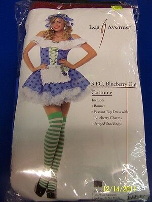 3 pc. Blueberry Girl Muffin Strawberry Shortcake Halloween Sexy Adult Costume
