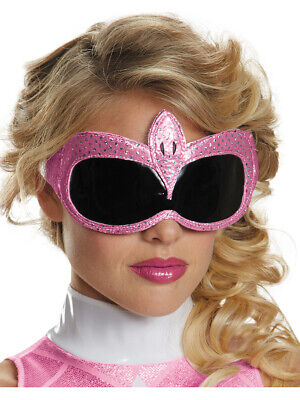 Adults Pink Mighty Morphin Power Ranger 1/4 Mask Costume Accessory - Power Ranger Costumes Pink