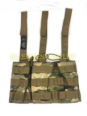 Military Style Tactical Assault Gear MOLLE 3 Mag Shingle Pouch Multicam NEW