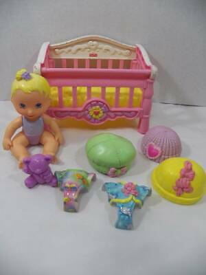 ~Fisher Price~ Snap n' Style Naptime For Nikki Blonde Baby Doll Crib Accessories