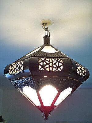 Deckenleuchter marokkanisch schmiedeeisen laterne lampe orientalisch federung - Weiß Schmiedeeisen Kronleuchter