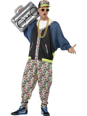 SMI - Herren Kostüm 80er Jahre Hip Hop - Hip Hop Rapper Kostüm