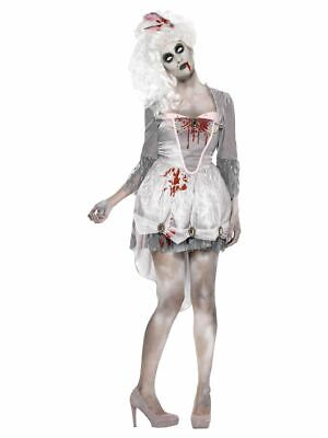 SMIFFY 61102 Zombie Historisch Zombiekostüm Horror Grusel Karneval Damen Kostüm - Historische Kostüm