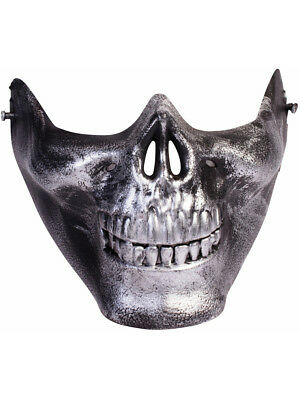 Adult Scary Lower Face Skull Half Mask Mad Max Costume Accessory - Half Skull Costume
