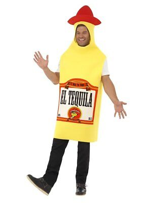 Smiffys Tequilla Bottle Alcohol Adult Mens Jumpsuit Halloween Costume 22592](Alcohol Halloween Costume)