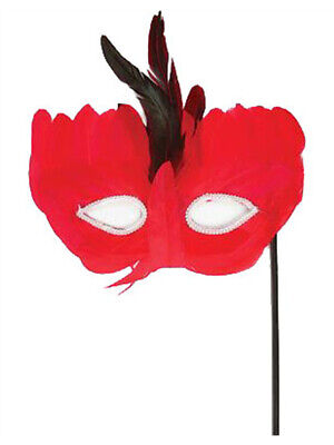 Red & Black Masquerade Costume Accessory Feather Mask](Masquerade Masks Red)