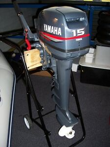 NEW YAMAHA 2 Two Stroke 15 FMHL S HP Outboard Boat Motor Engine Commercial 15HP