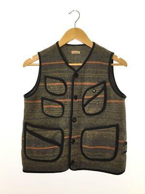 KAPITAL Men's Beach Vest Stripe Gray 1 Wool K1410SJ221 From Japan F/s Best deal