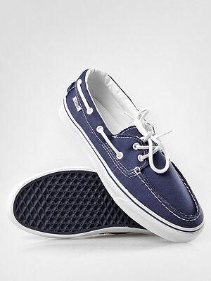 Vans Zapato Del Barco Canvas Navy Blue White Mens Womens Canvas Shoes Sizes 9.5