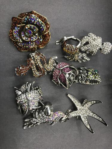 Wholesale Jewelry lot 10 pc stretch/adjustable rhinestone crystal mix rings