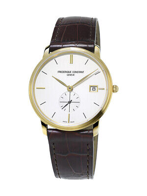 Frederique Constant Slimline Men's Quartz Caliber 10 Jewel 37mm Watch FC-245V4S5