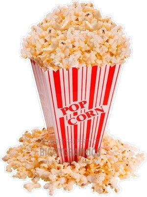 Box Of Popcorn Fun Window Or Wall Decal Choose A Size Stands Boardwalk Shops