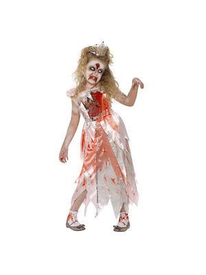 Kostüm für Kinder Kleid Zombie Prinzessin Halloween ()
