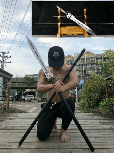 213cm Chinese KungFu Hunting Fighting Spear Very Sharp High Manganese Spearhead