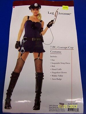 Corrupt Cop Police Officer Woman Girl Blue Dress Up Halloween Sexy Adult Costume](Girl Cop Costume)