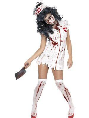 Zombie Krankenschwester - Halloween Gr. S  - Kleine Schwester Halloween Kostüm