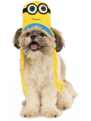 Despicable Me Minions Bob Knit Hat For Pet Dog Costume Accessory (Despicable Me Pet Costume)