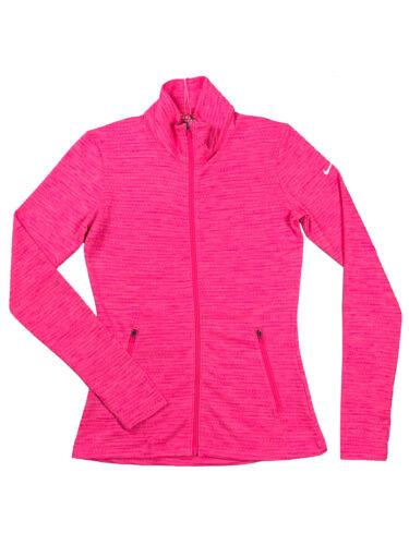 Nike Golf Womens Dri-Fit Full Zip Long Sleeve Jacket Shirt Bright Pink New