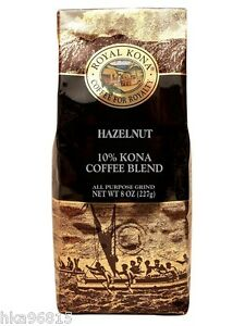 hazelnut royal kona 8 oz medium light roast ground kona. Black Bedroom Furniture Sets. Home Design Ideas