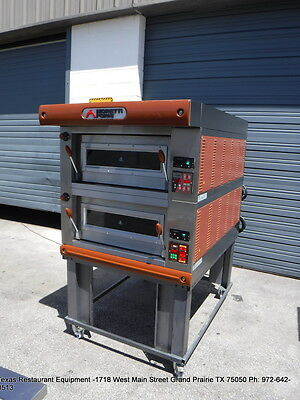 Moretti Forni Electric Double Deck Bread Pizza Oven P80c30p