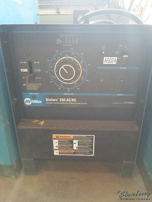 250 Amps Used Miller Dialarc Stick Welder Mdl. Dialarc 250 Acdc A5024