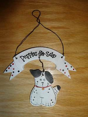 Puppies for Sale Christmas Tree Ornament Black & White Spotted Dog (Christmas Ornaments For Sale)