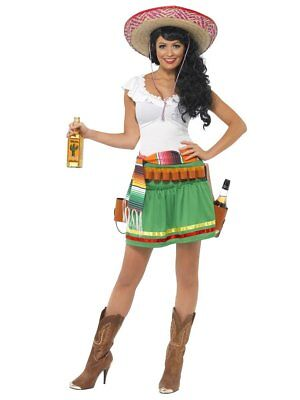 Smiffys Tequila Shooter Girl Mexico Cinco De Mayo Womens Halloween Costume 29132