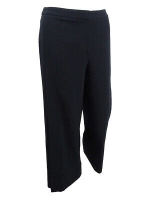 - Tahari ASL Women's Petite Cropped Wide-Leg Crepe Pants (14P, Black)