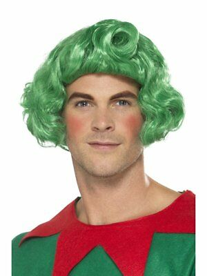 Green Elf Wig Oompa Loompa Christmas Toy Maker Munchkins Adult Costume Accessory](Adult Munchkin Costume)
