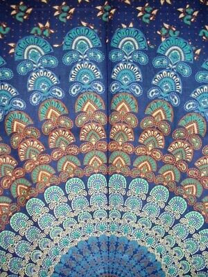 Sanganeer Tab Top Curtain Drape Panel Cotton 44