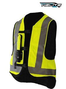 gilet aria borsa giallo fluo helite airnest hi vis gonfiabile moto airbag ebay. Black Bedroom Furniture Sets. Home Design Ideas