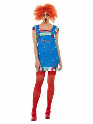 Chucky, Damen Halloween Kostüm, XS UK Größe - Größe 6 Halloween Kostüme Uk