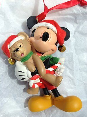 Disney World Mickey Mouse with Duffy Figure Ornament, NEW